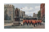 Victoria Statue, Castle Approach, Windsor Giclee Print by Alfred Robert Quinton