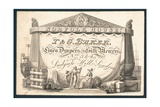 I and G Baker, Linen Drapers and Silk Mercers, Trade Card Giclee Print