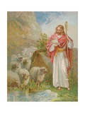 The Good Shepherd Giclée-tryk