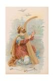 King David Playing the Harp Giclee Print