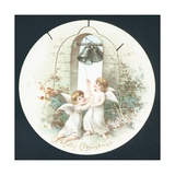 Angels Ringing Bells, Christmas Card Giclee Print