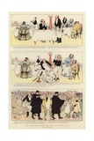 The Half-Crown Dinner and the Weak-Knee'D Table Giclee Print by Albert Guillaume