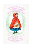 Little Red Riding Hood, Christmas Card Giclee Print