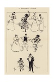 Le Dahomey a Paris Giclee Print by Albert Guillaume