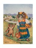 Please, I Want an Orange Giclee Print by Louis Wain