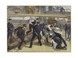 Life on Board a Man-Of-War Gicleetryck av William Heysham Overend