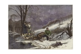Caribou Hunting in New Brunswick Wydruk giclee
