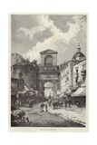 Porta Capuana in Naples Giclee Print by Gustave Bauernfeind
