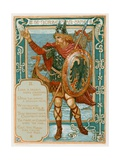 The Norseman Came Giclee Print by Walter Crane