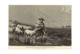 He Shall Gather the Lambs with His Arm Giclee Print by John William Bottomley