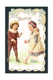 Playing Croquet, Christmas Card Giclee Print