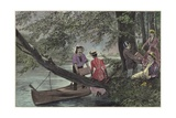 A River Picnic Giclee Print by Richard Caton Woodville II