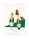 Sparkling Wine, Probably Christmas Card Giclee Print