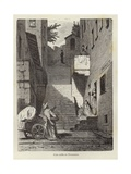 A Street in Tremezzo Giclee Print by Hermann Kaulbach