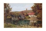 Lorna Doone Farm, Malmsmead Giclee Print by Alfred Robert Quinton