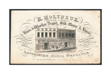 H Molyneux, Linen and Woollen Draper, Silk Mercer and Hosier, Trade Card Giclee Print