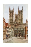 Lincoln Cathedral, and Exchequer Gate Giclee Print by Alfred Robert Quinton
