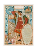Columbus Saw Giclee Print by Walter Crane