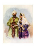 A Turcoman and His Wife Giclee Print by Frederic De Haenen