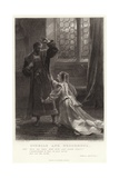 Othello and Desdemona, Othello, Act IV, Sc 2 Giclee Print by Frank Bernard Dicksee