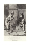 Speed and Launce, Two Gentlemen of Verona, Act II, Scene V Giclee Print by Charles Green