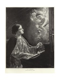 Saint Cecilia Giclee Print by German School