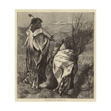 Hiawatha and Minne-Ha-Ha Giclee Print by Arthur Boyd Houghton