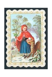 Little Red Riding Hood, Card Giclee Print