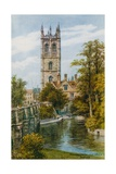 Magdalen College and River, Oxford Giclee Print by Alfred Robert Quinton