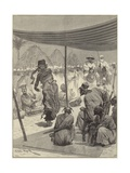 Dance before the King of the Sofas in West Africa Giclee Print by Richard Caton II Woodville