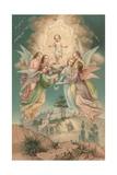 British Christmas Card Giclee Print