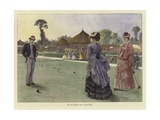 The Last Croquet Game of the Season Gicleetryck av Hopkins, Arthur