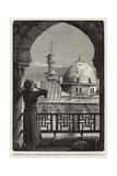 Palestina, Muezin Llamando a Los Musulmanes a La Oracion De Lo Alto Del Alminar De Isa O Jesus Giclee Print