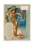 Miss America as La Belle Sauvage Fancy Free Giclee Print by Walter Crane