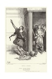 "Bottom, as Pyramus, ""Midsummer Night's Dream,"" Act V, Scene I Giclee Print by Frederick Barnard"