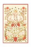 Angel with Arms Raised, Christmas Card Giclee Print