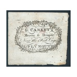 G Carkett, Mercer and Draper, Trade Card Giclee Print