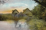 Boat Houses, Horsey Mere Photographic Print