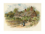 Anne Hathaway's Cottage at Shottery Giclee Print by William Stephen Coleman