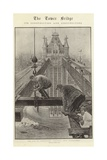 The Tower Bridge, its Construction and Constructors Giclee Print by Henri Lanos