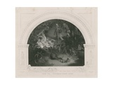"""There Sleeps Titania"", from the Midsummer Night's Dream Giclee Print by Robert Huskisson"