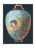 Japanese Lantern, Christmas Card Giclee Print