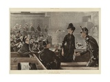 A Scene in the Paris Courts Giclee Print by Charles Paul Renouard