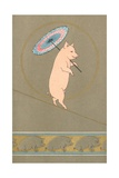An Anthropomorphic Pig Performing in a Circus Giclée-Druck