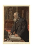 The Marquess of Salisbury Speaking in the House of Lords Giclee Print by Sydney Prior Hall