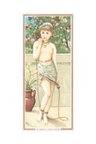 Girl with Skipping Rope, New Year Card Giclee Print