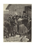 The Famine in Russia Giclee Print by Richard Caton II Woodville
