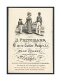 H Pritchard, Mercer, Tailor and Draper, Trade Card Giclee Print