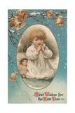 British New Year's Card Giclee Print