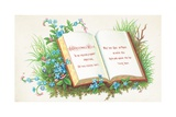 Open Book, Christmas Card Giclee Print by  English School